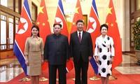 习近平与朝鲜领导人举行会谈