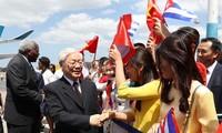 阮富仲对古巴进行国事访问的活动