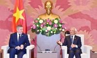 汪朱刘会见罗马尼亚-越南友好议员小组和美国-东盟商务委员会代表团