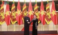 阮氏金银与斯里兰卡议会议长举行会谈