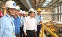 政府副总理郑庭勇检查台塑钢铁兴业责任有限公司二号高炉试运行准备工作
