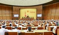 越南国会继续讨论经济社会发展情况