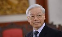 阮富仲出席中央公安党委常委会会议