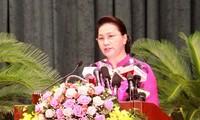 阮氏金银出席海防市第15届人民议会第7次会议