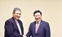 范平明在第51届东盟外长会及系列会议期间举行双边会晤