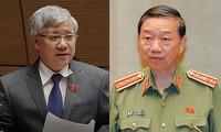 越南国会常委会质询民族委员会主任杜文战和公安部部长苏林