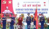 阮氏金银出席越南海警传统日20周年纪念仪式