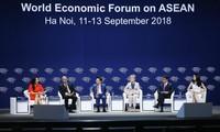 2018世界经济论坛东盟峰会举行各场讨论会