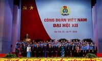 越南工会第12次全国代表大会取得圆满成功