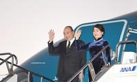 阮春福抵达东京出席第十届湄公河流域国家与日本峰会并访问日本