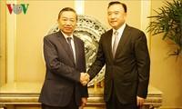 越南公安部长苏林会见中国辽宁省副省长兼公安厅厅长王大伟