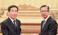 胡志明市领导人会见中国全国人大宪法和法律委员会主任