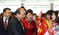 阮春福抵达新加坡  开始出席第33届东盟峰会及系列会议
