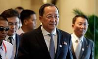 中国通报朝鲜外务相的访华计划