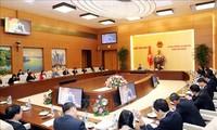 越南国会主席阮氏金银与国家石油集团领导人举行工作会议