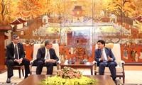 河内市人民委员会主席阮德钟会见亚洲教区教会、 耶稣基督后期圣徒教会主席戴维斯