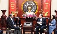 胡志明市市委书记阮善仁会见中国驻越大使熊波
