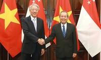 张和平与新加坡副总理兼国家安全统筹部长张志贤举行会谈