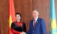 越南国会主席阮氏金银会见哈萨克斯坦下院议长努尔兰·尼格马图林