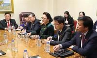 阮氏金银出席议联第140届大会的相关活动