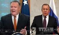 俄美两国外长讨论热点问题