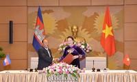 越柬国会领导人举行会谈
