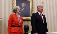 美国总统特朗普结束对英国的访问
