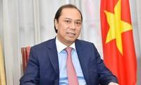 越南外交部副部长阮国勇就第34届东盟峰会结果接受媒体的采访