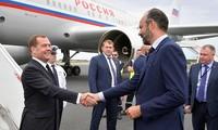 俄罗斯总理梅德韦杰夫访问法国