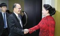 越南国会主席阮氏金银会见中国一些企业代表