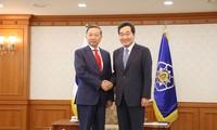 越南公安部部长苏林对韩国进行正式访问