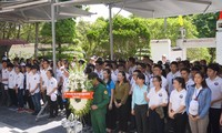 越侨青年和大学生感恩英雄烈士