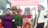 阮氏金银出席西宁省烈士追悼会和遗骨归葬仪式