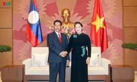 阮氏金银会见老挝国会副主席