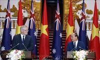 澳大利亚总理圆满结束对越南的正式访问