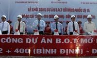 Peresmian Pembangunan Jalan Negara 1A ruas melintasi provinsi Binh Dinh