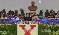 Tilgram ucapan selamat yang disampaikan KS PKV Vietnam kepada Kongres Nasional ke-10 Partai Rakyat Revolusioner Laos