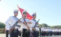 Kabupaten pulau Truong Sa mengadakan banyak aktivitas untuk menyambut Kongres Nasional ke-12 PKV