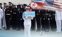 L'UNC tient la cérémonie de rapatriement des dépouilles de soldats américains