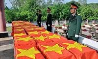 Base de données nationale pour accélérer la recherche et le rapatriement des restes des soldats