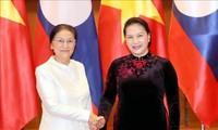 Nguyên Thi Kim Ngân reçoit son homologue laotienne Pany Yathotou