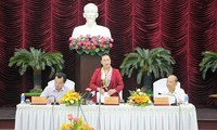 Nguyên Thi Kim Ngân travaille avec les dirigeants de Binh Thuân