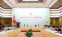 Conférence de presse sur la réunion gouvernementale du mois de mai