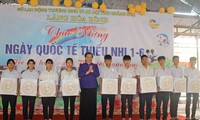 Tong Thi Phong en déplacement à Quang Nam