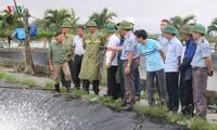 Typhon Wipha : le vice-ministre de l'Agriculture et du Développement à Haiphong