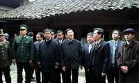 Staatspräsident Truong Tan Sang besucht Ha Giang