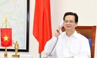 Premierminister Nguyen Tan Dung telefoniert mit Premierminister Japans Shinzo Abe