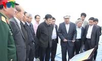 Staatspräsident überprüft Baustelle des internationalen Hafens Hai Phong