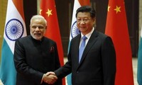 Staatspräsident Chinas trifft Premierminister Indiens