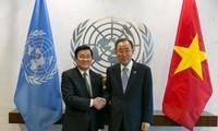 Staatspräsident Truong Tan Sang trifft UN-Generalsekretär Ban Ki-moon